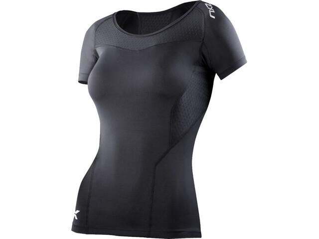 2XU Compression Short Sleeve Top Dame black/black